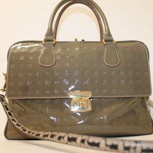 Arcadia Patent Leather Satchel